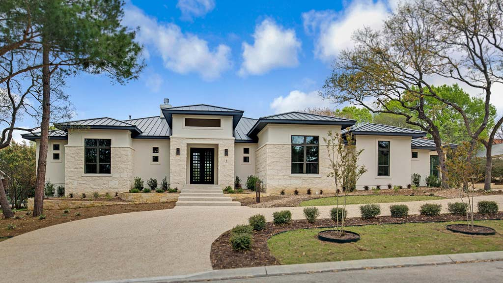 Exterior Photo Gallery | Custom Bur Homes | San Antonio TX on traditional home exterior front designs, angled kitchen island designs, modern ranch style house designs,
